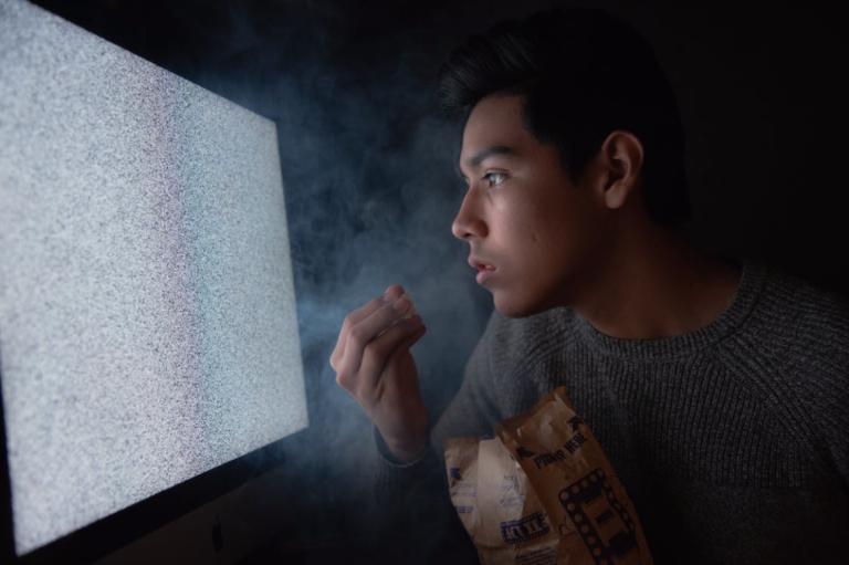 Guy Looking At Screen